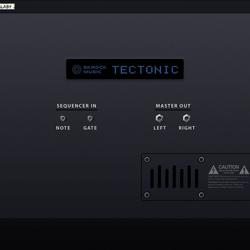 Tectonic synthesizer back