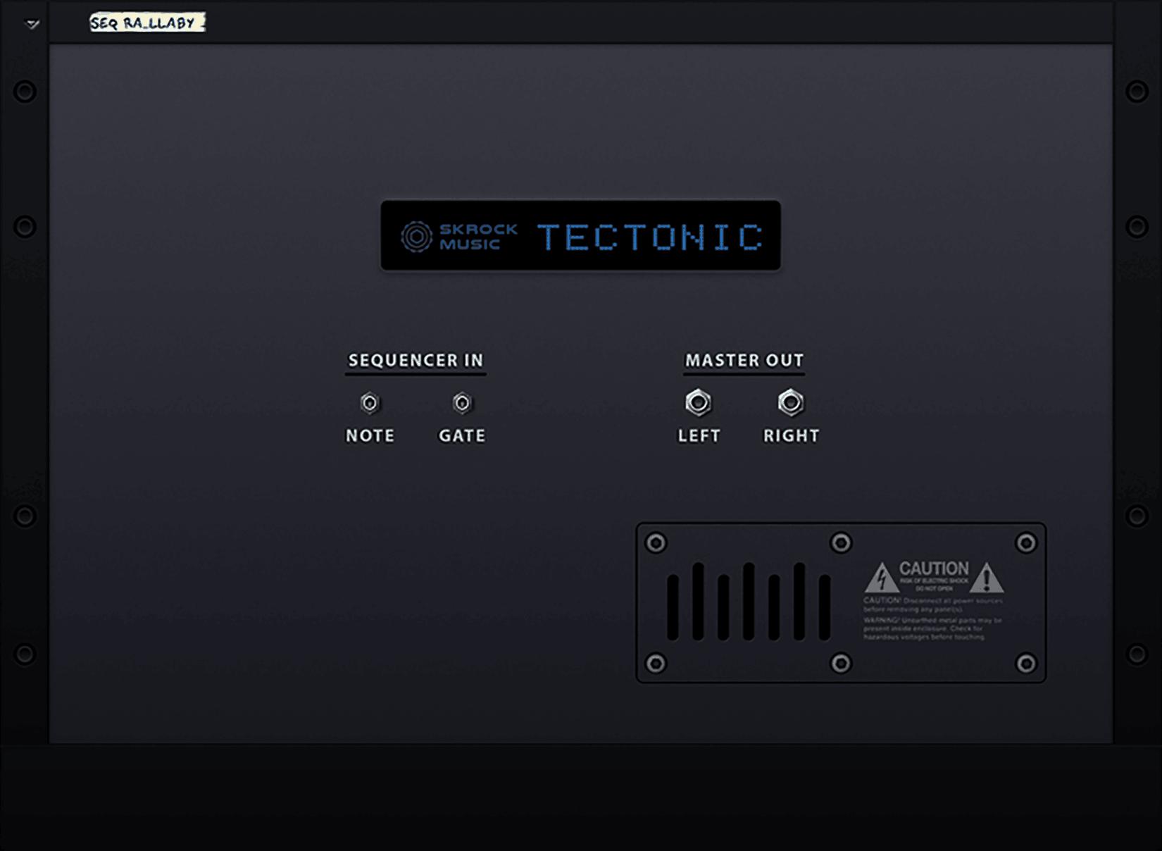 Tectonic synthesizer back