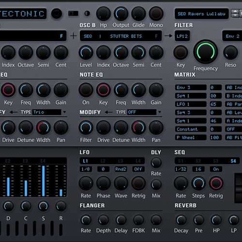 Tectonic synthesizer front2